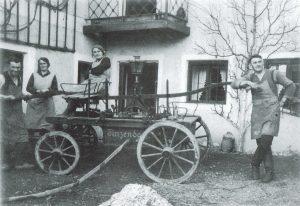Saug- und Druckspritze Baujahr um 1900